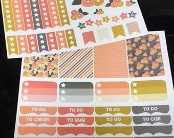 Mod Flower Weekly Planner Kit    For Vertical Erin Condren Life Planners