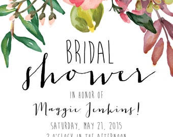 Bridal Shower Invitation_Digital File