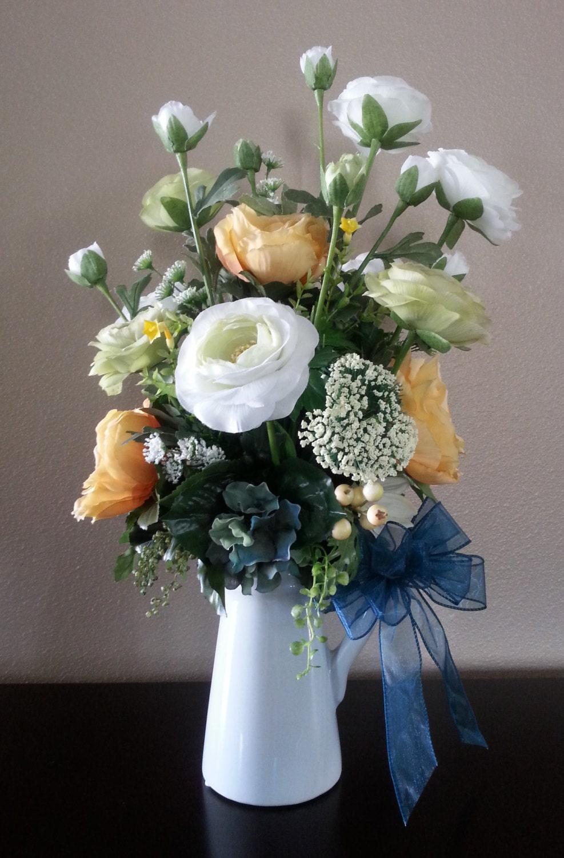 Artificial Flower Decoration: Artificial Flower Arrangement Faux Flowers Floral