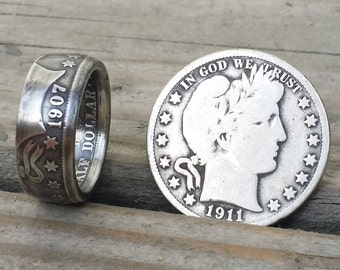 U.S. Barber Half Dollar Coin Ring