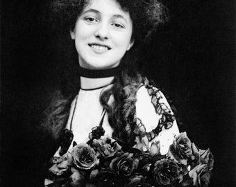 "Otto Sarony Photo, Evelyn Nesbit, ""A Bud #4"", 1901"