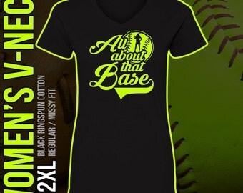 All About That Base V-Neck Black T-Shirt //// Women's Regular Fit //// S - 2XL
