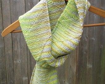 Organic Cotton Scarf Handmade Knit Natural Light Vegan New Unique Women Kids Her Children Soft Washable Pastel Lightweight