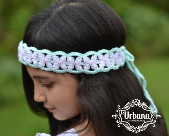 CROCHET HEADBAND PATTERN Flower Garland Headband Toddler
