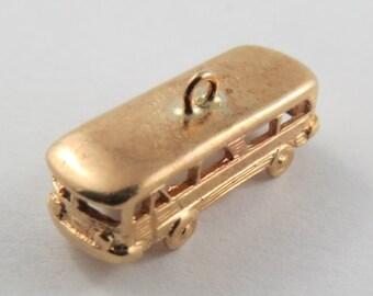 Volkswagon Bus 10K Gold Vintage Charm For Bracelet