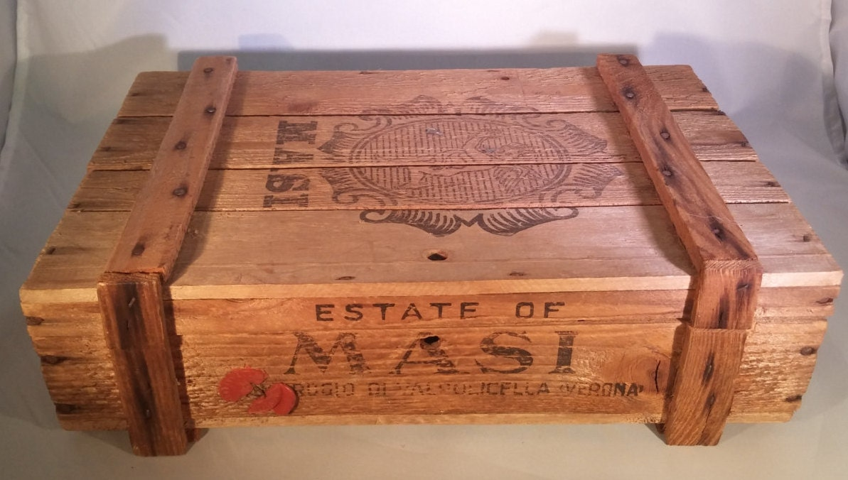 Vintage italian masi estate wine crate haute juice for Where can i find old wine crates