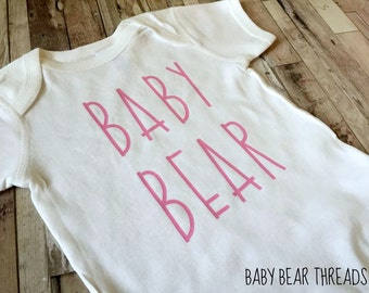 Pink Baby Bear - Baby Bodysuit - Kid Shirt