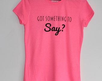 Custom Text T-Shirt or Singlet, men's or women's