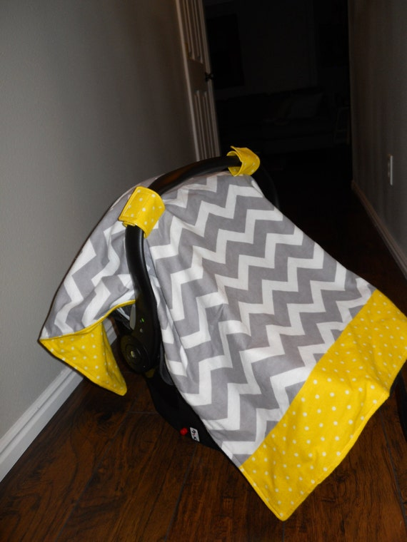 car seat canopy gender neutral carseat by littlelinksdesigns. Black Bedroom Furniture Sets. Home Design Ideas