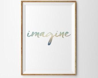 IMAGINE - Modern Typograpy Print