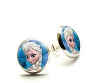 Elsa Frozen Stud Earrings- Disney Frozen- Hypoallergenic Earrings