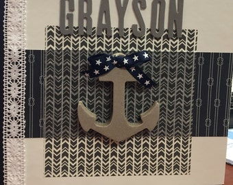 Nautical Baby brag book