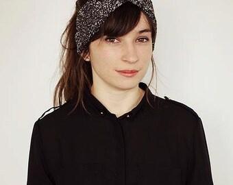 Metallic black turban
