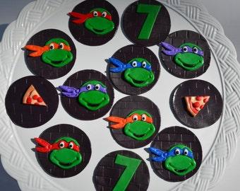 Teenage Mutant Ninja Turtle Fondant toppers