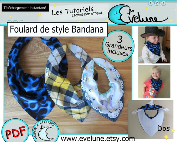 patron foulard bandana bavoir bandana foulard enfant. Black Bedroom Furniture Sets. Home Design Ideas
