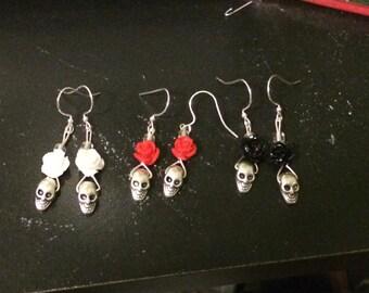 Skull & Rose Earrings