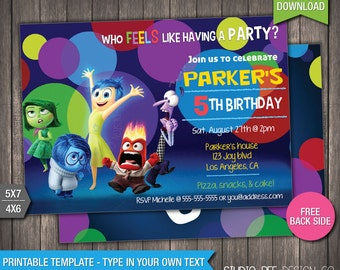 Inside Out Invite Etsy - Birthday invitations inside out