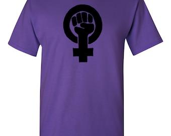 Feminist Fist Symbol Shirt. Feminism T-shirt.