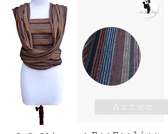 GuGaSling Wrap Aztec/Baby sling woven wrap-Width 70 cm-Baby wrap/Baby carrier/Cotton/Gift bag