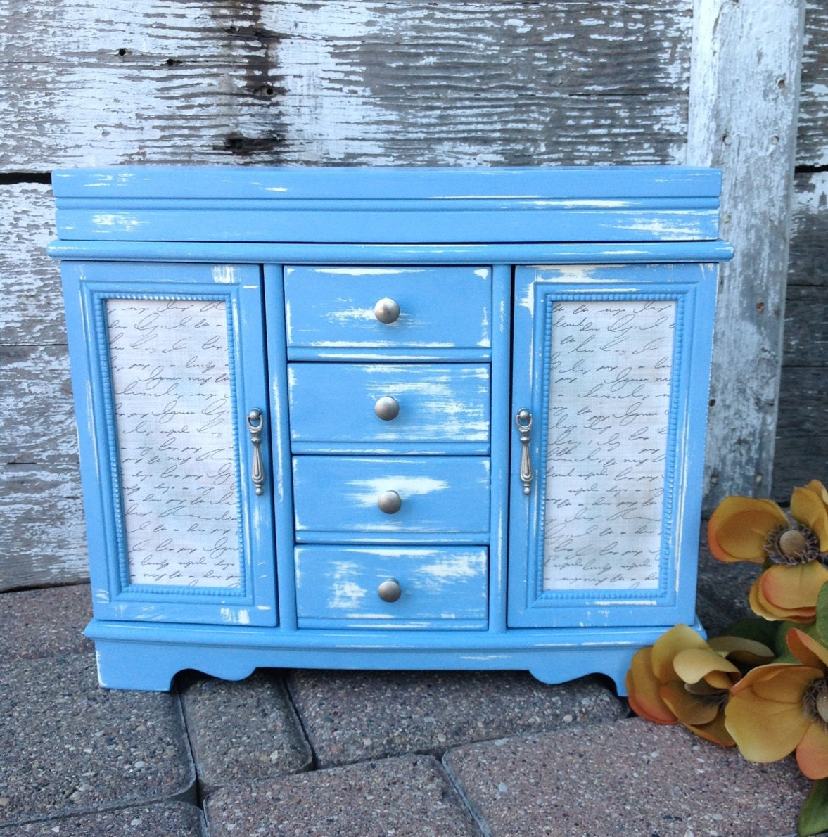 Chic Blue Blue Shabby Chic Upcycled
