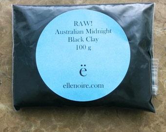 Australian Midnight Black Clay - 100g bag