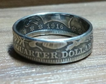 Barber Quarter Coin Ring
