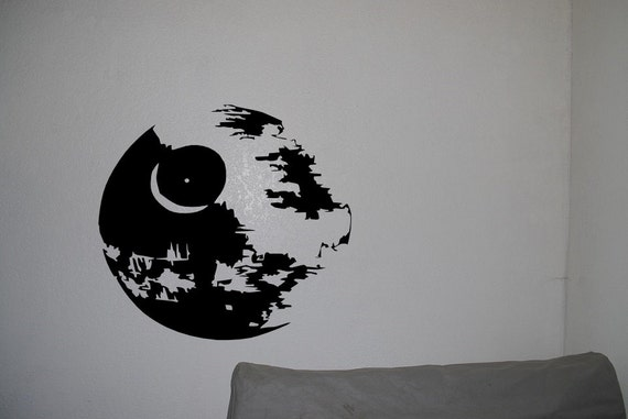 Death star in star wars wall decals anime mural by for Death star wall mural