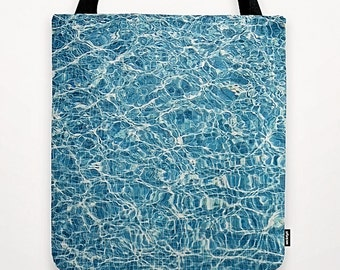 Tote Bag Summer Swimming Pool, Blue Turquoise Water