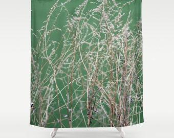 Dry Grass, Shower Curtain, Brown, Green, Fall, Bath Curtain,Bathroom Decor,Accessories,Bathroom Art,Designer Shower Curtain,Interior Design