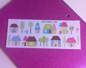 Cute Colored Houses Planner Stickers Erin Condren House Planner Stickers Plum Paper Planner House Planner Stickers House Planner Stickers