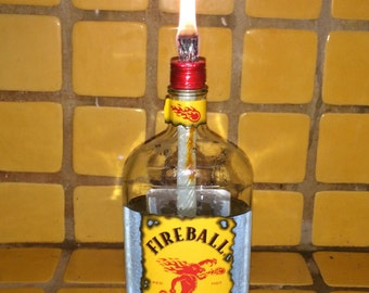 Fireball whiskey tiki torch