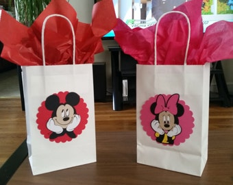 Mickey or Minnie favor bags