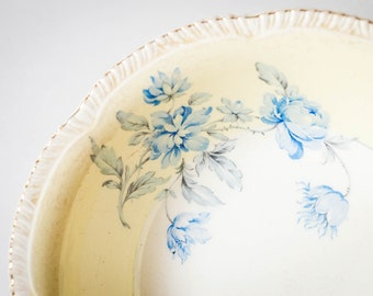Antique Woods Ivory Ware Bowl - England Bone China Bowl - Shabby Chic Flower Design - Vintage Floral Dish
