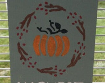 Autumn Harvest Welcome Wooden Sign