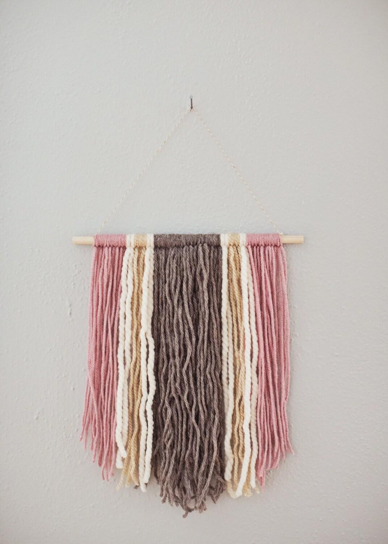 Small Yarn Hanging Wall Hanging Bohemian Decor Boho Wall