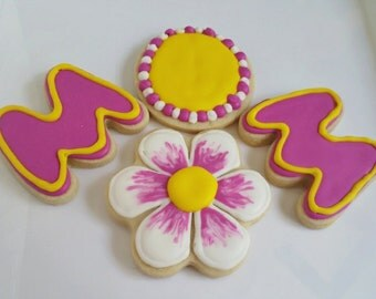 Decorated Iced Sugar Cookies mom mother's day Party Favors Gift