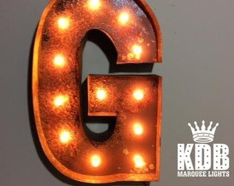 """Letter G Marquee Light - 24"""" High"""
