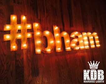 "Hashtag Marquee Light - 12"" High"
