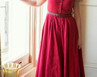 Jewel Red block print dress