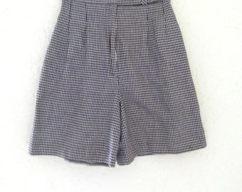 90s Teachers Assistant Houndstooth Shorts; Grunge Shorts; High Waisted Shorts; Black and White Shorts; VIntage Shorts S/M