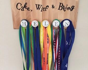 Personalised medal hangers