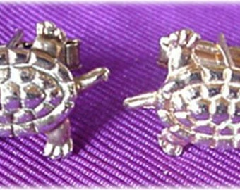 Gold Turtle Cufflinks with Topaz Eyes