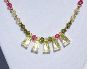 Swarovski crystal keystone necklace