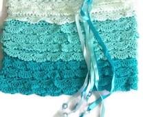 Lace skirt chrochet skirt, mini skirt