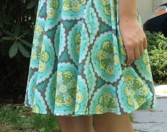 Summer circle skirt