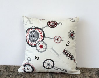 "Decorative Pillow Throw Pillow Clocks Pattern 16""x16"" Decorative Cushion Home Decor Pillow Cover"