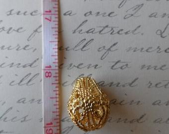 Silver pear drop large Raw Brass