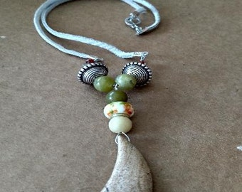 Big Bold Natural Stone Pendant Necklace