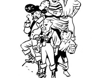 Original pirate illustration