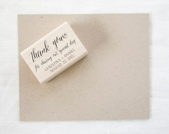 Wedding Favor Stamp - thank you stamp - wedding stamp - thank you for sharing our special day - custom wedding stamp - rubber stamp - Z1028
